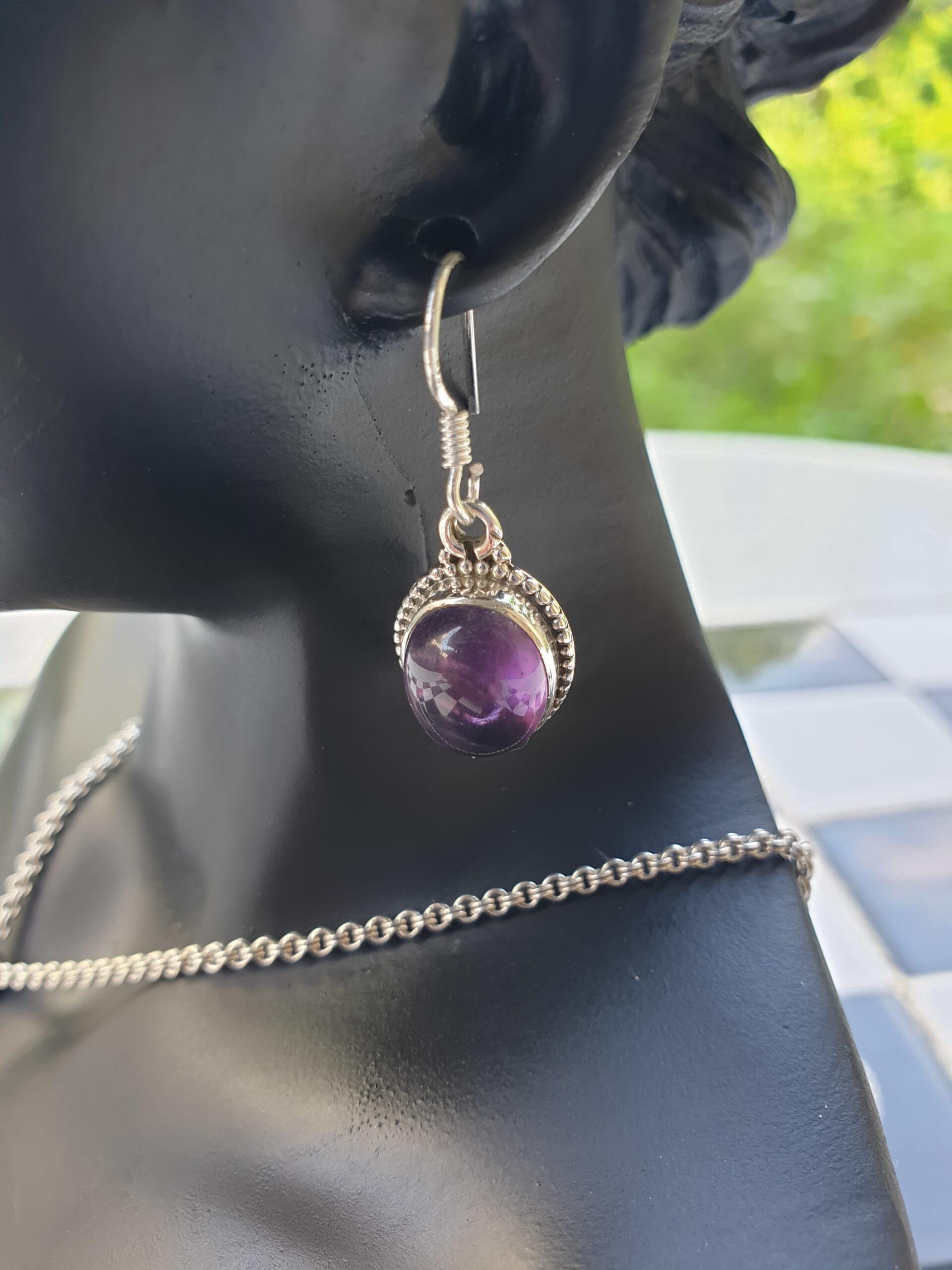 earring amethyst 2 photo